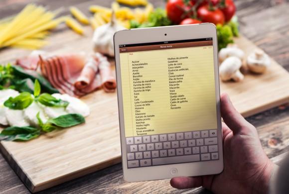 Aplicativos ajudam na tradicional lista de compras