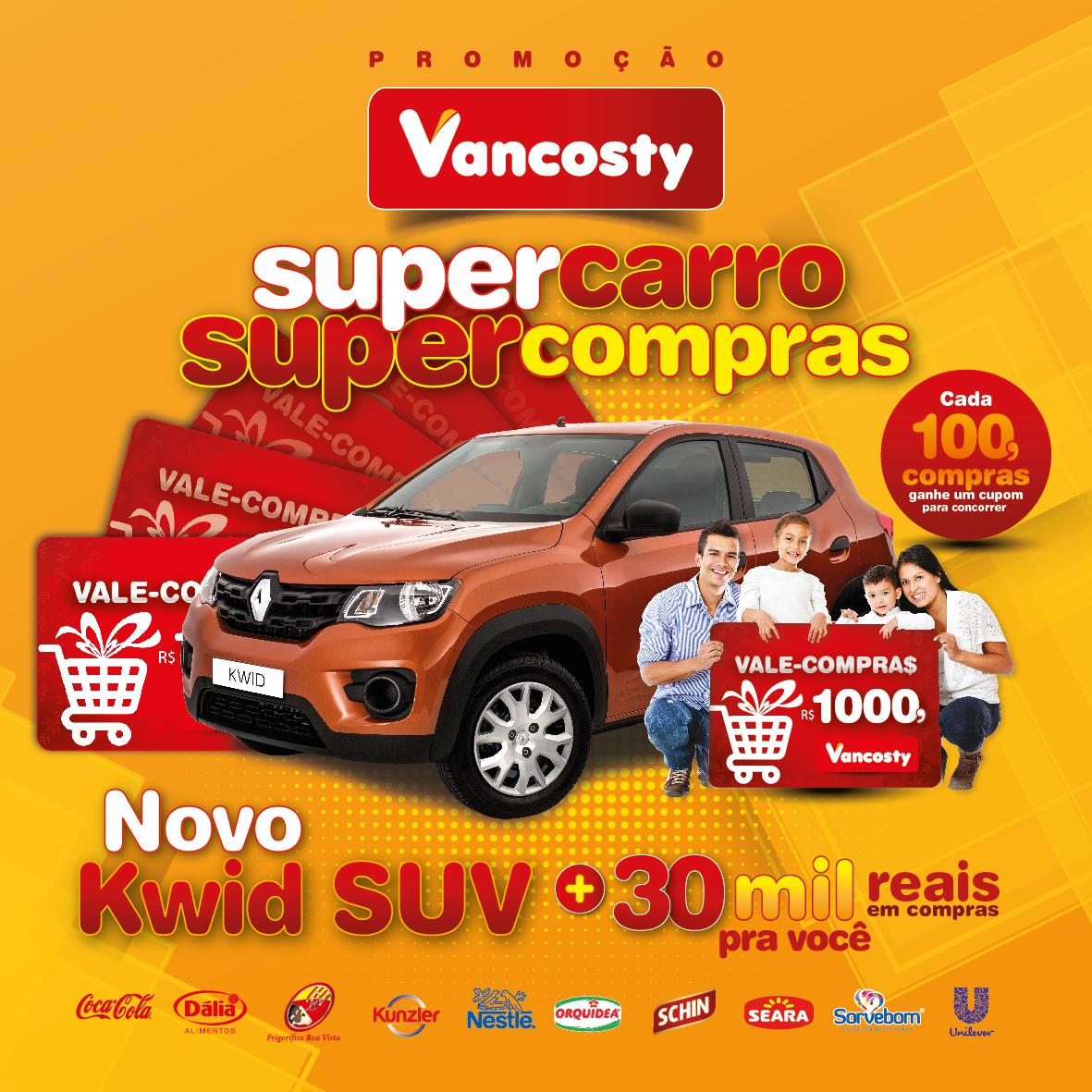 Super Carro, Super Compras é no Vancosty!